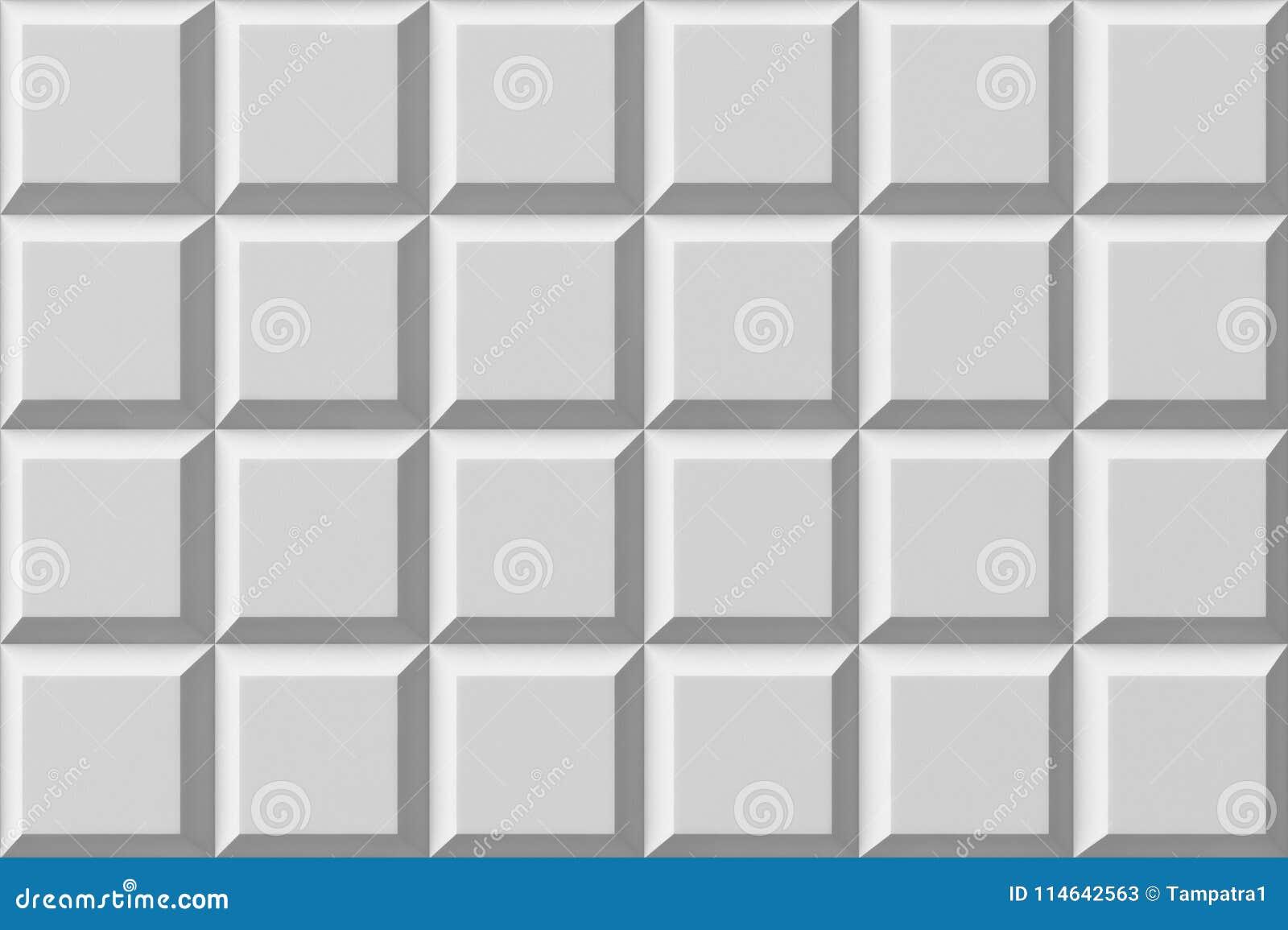 Download White Tile Flooring Seamless Texture Pattern Background 3d Stock Illustration
