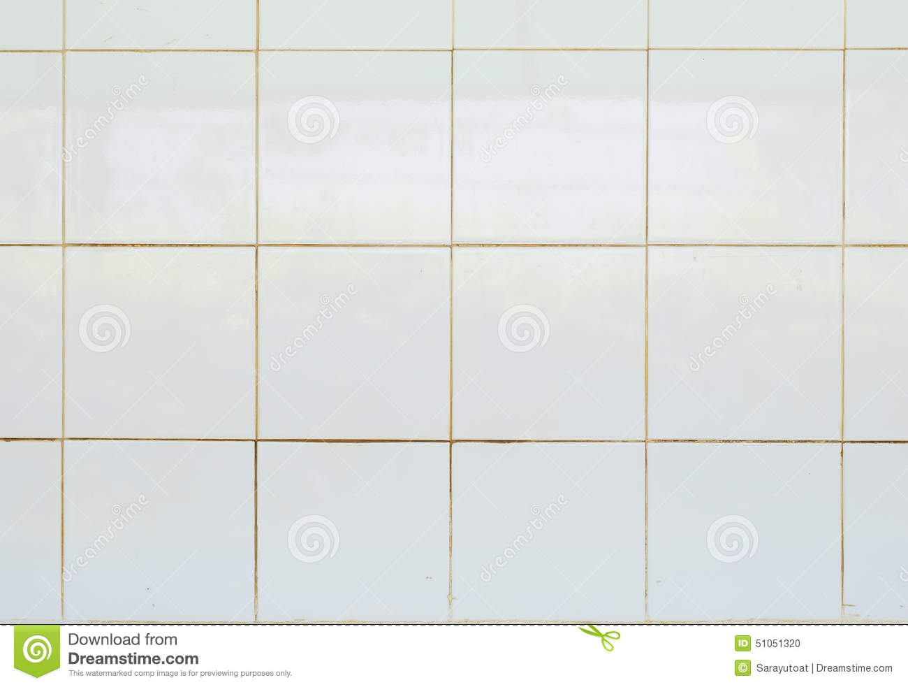 White Tile Glossy Mosaic Earthenware Material Stock Photo - Image of ...