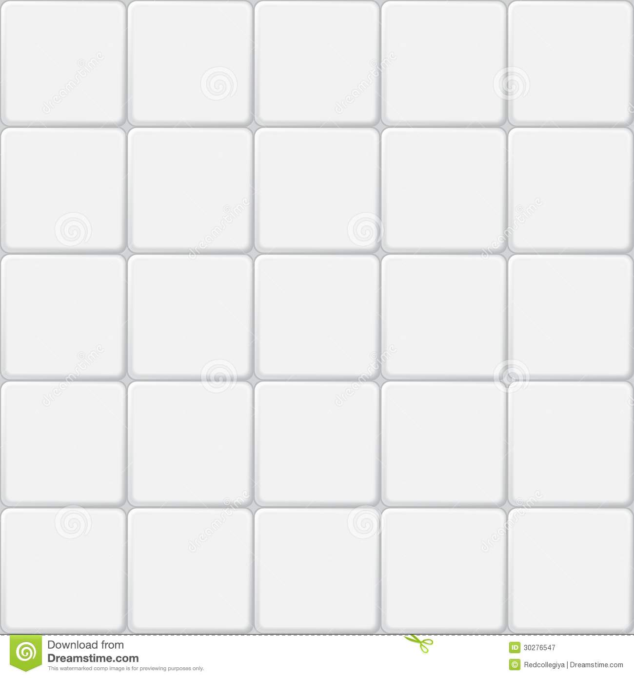 White Tile Seamless Pattern Minimalistic Vector Background