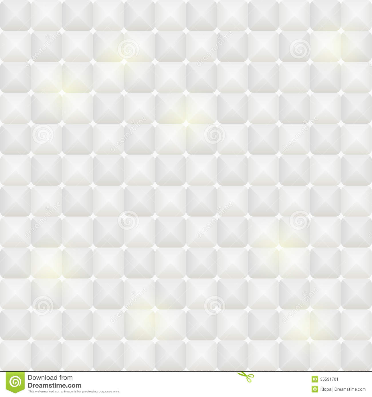White Tile Seamless Pattern With Square Elements Stock