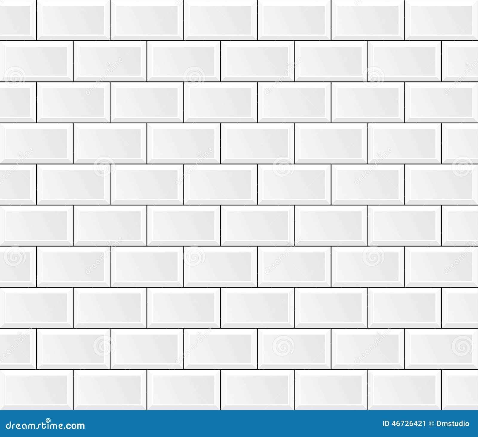 Vector white tile wall stock vector. Illustration of bathroom - 46726421