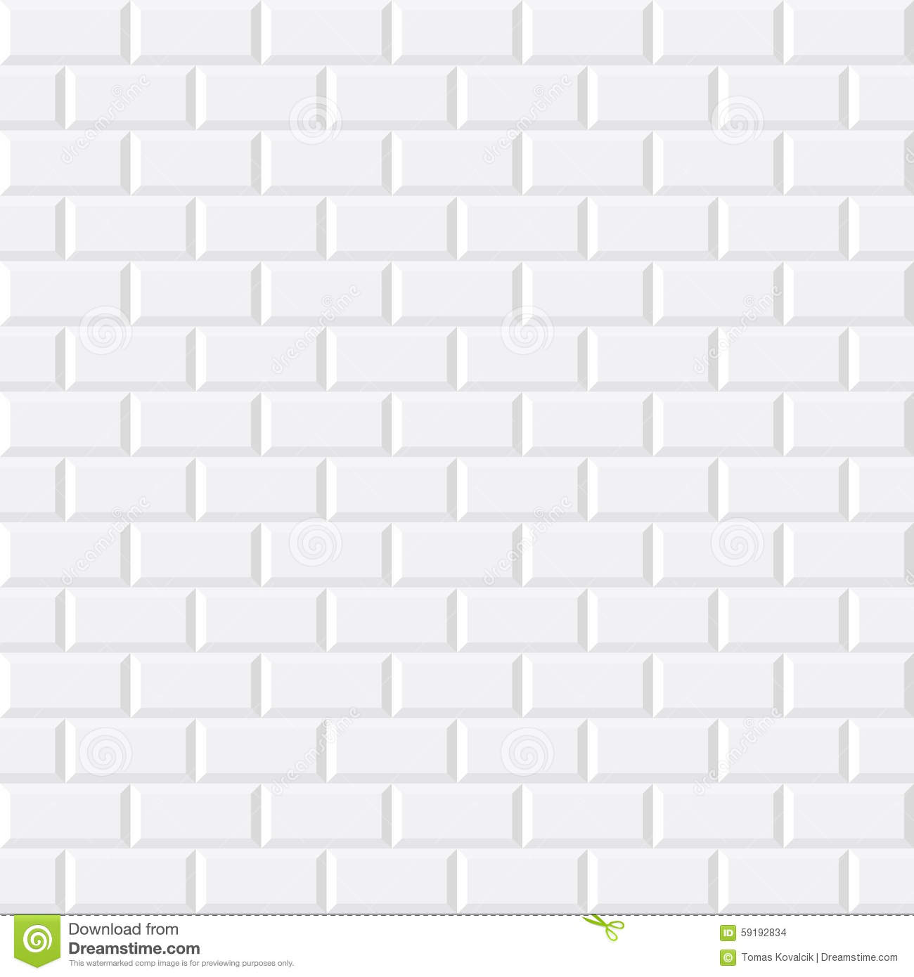 White Tiles Ceramic Brick Stock Vector Image Of Glossy