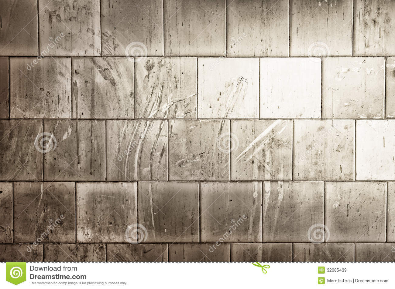White Tiles Is Dirty Stock Image Image Of Artistic Block