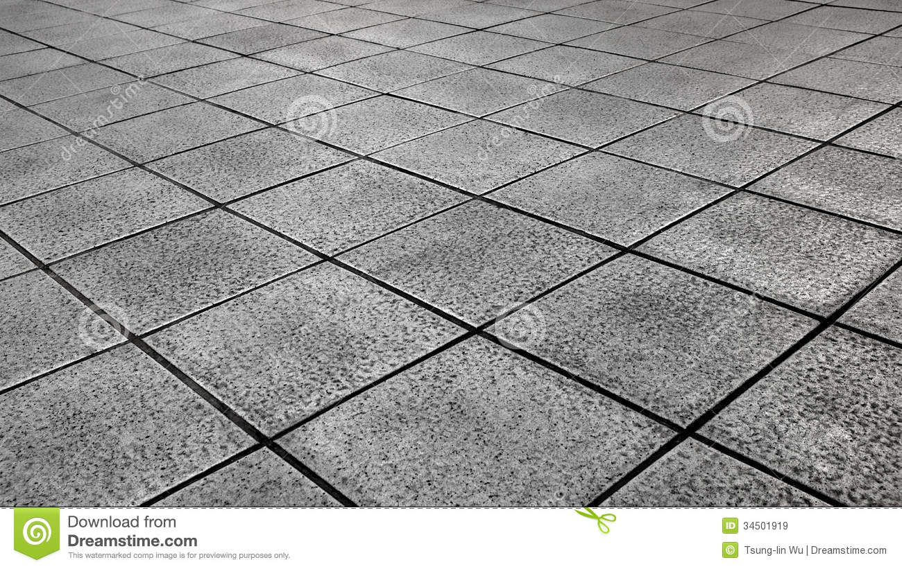 White Tiles ground in black and white