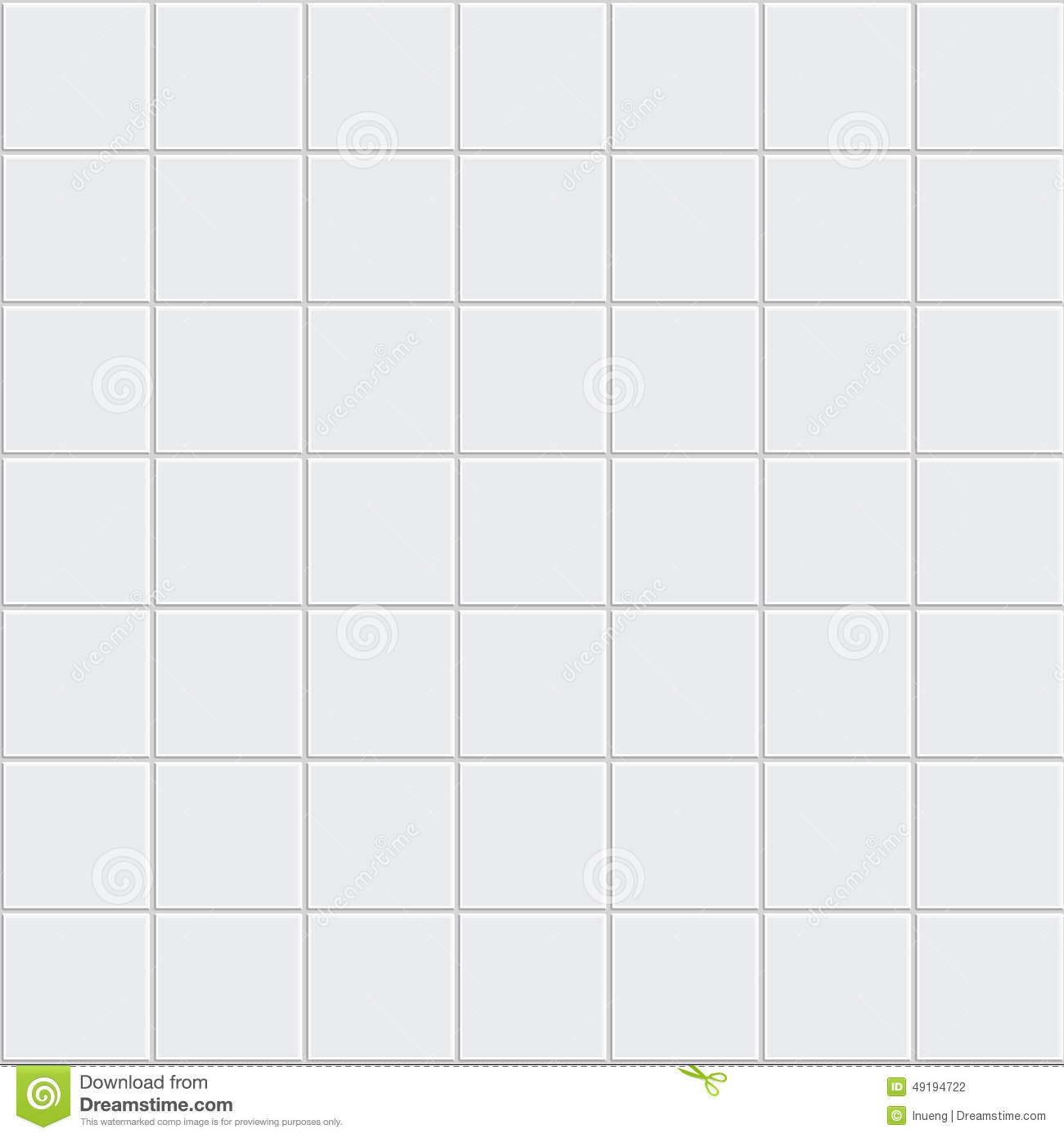White Tiles Texture Vector Stock Image 49194722