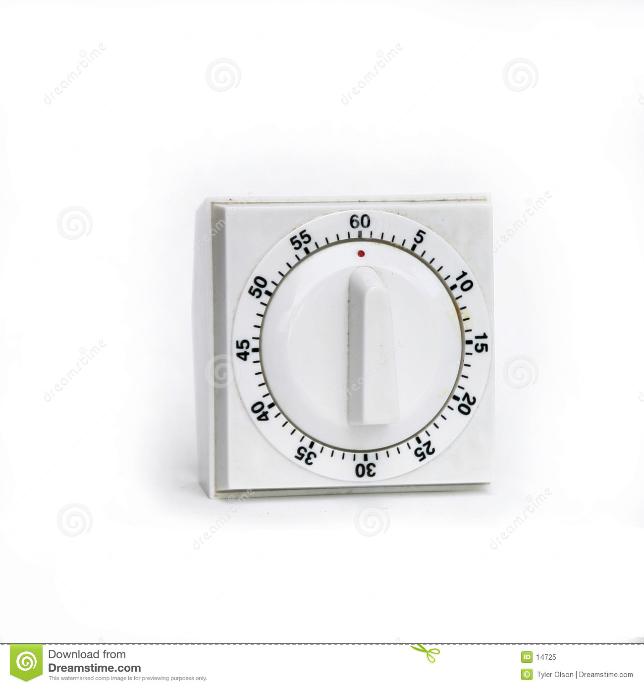 White Timer Isolated
