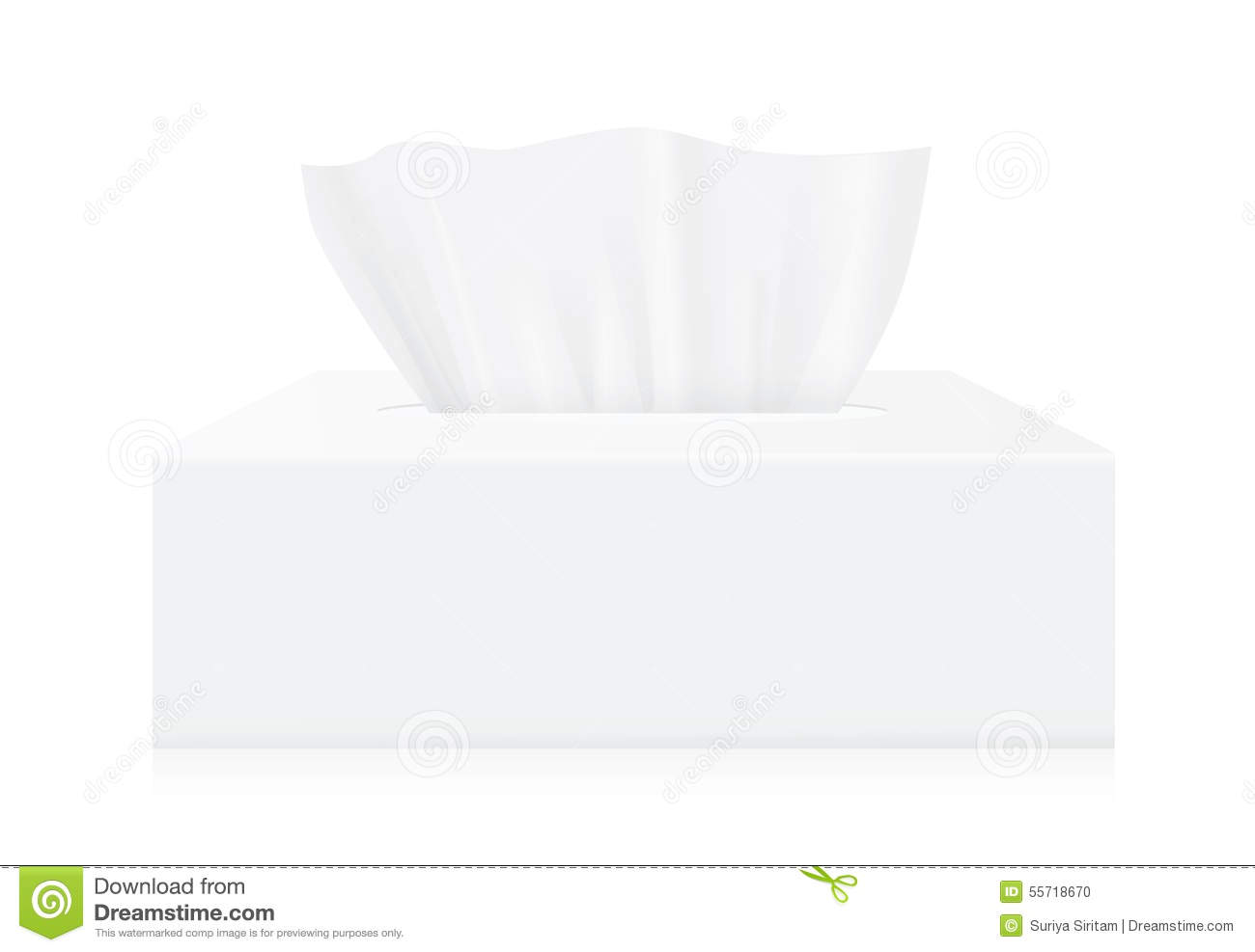 white tissue box mock up stock vector