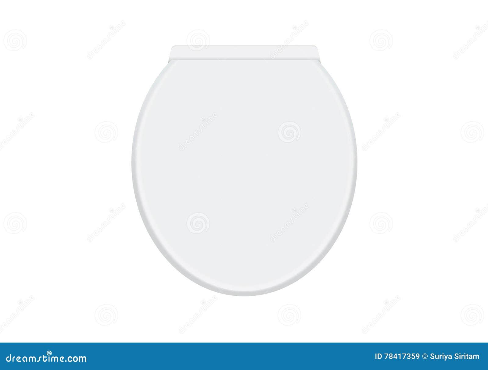 White Vector Toilet Bowl Vector Illustration