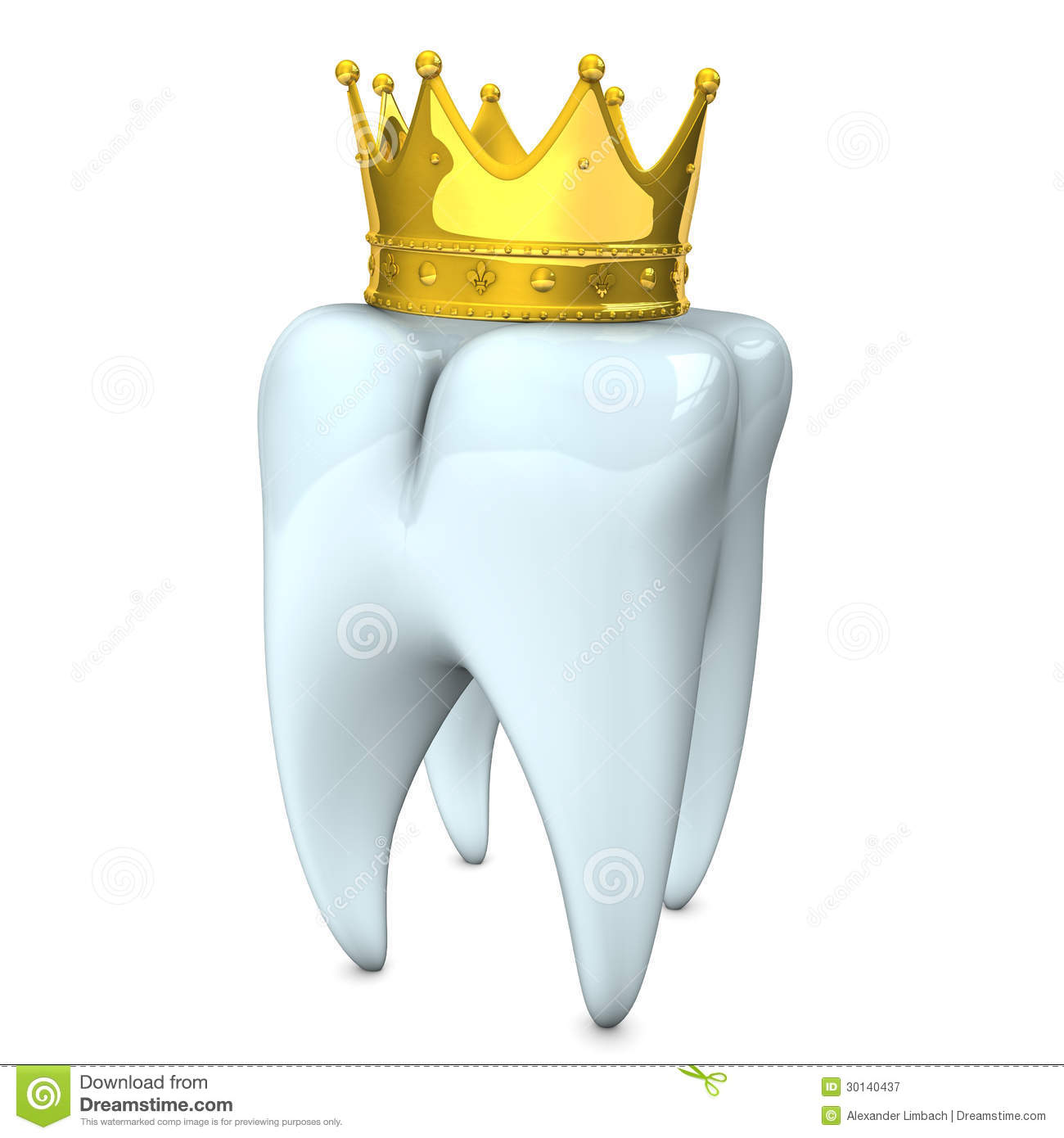 Tooth Crown Stock Illustration Illustration Of Realistic