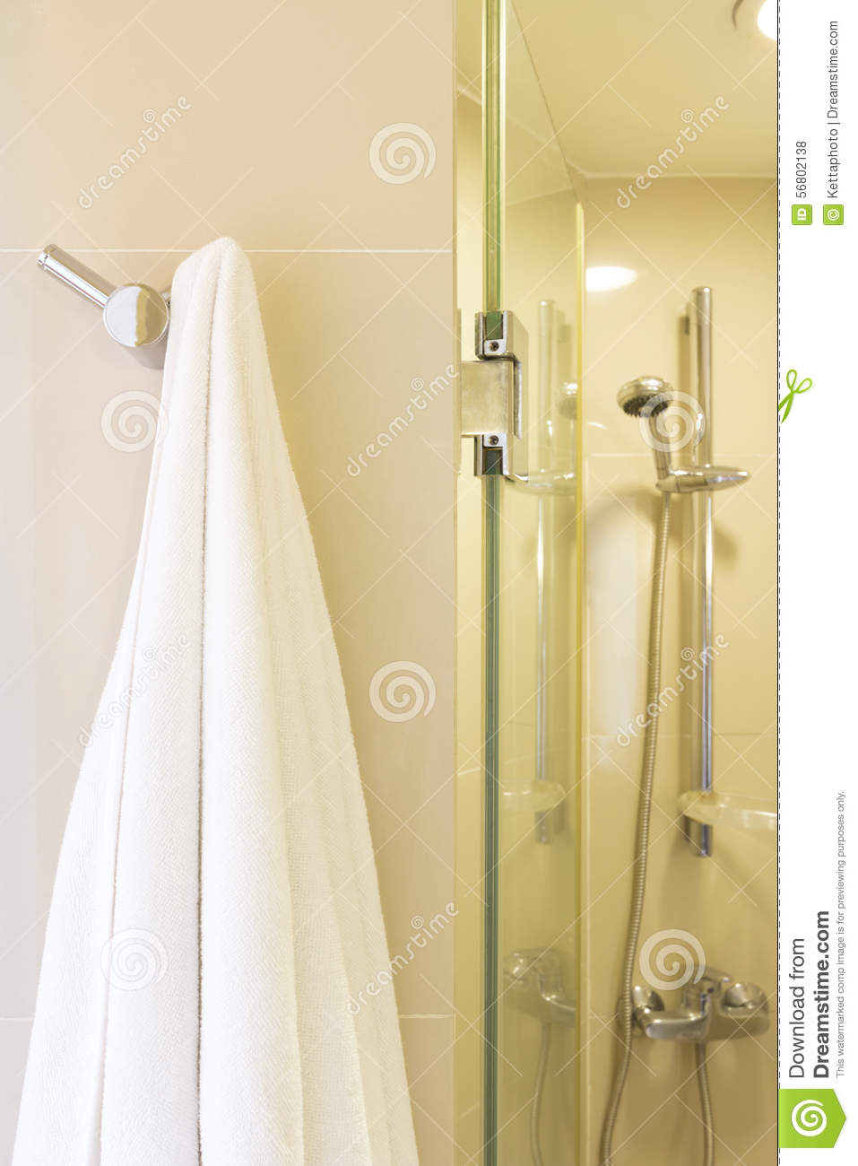 Towels hanging in bathroom stock bath towel rack stock for What to hang on bathroom walls