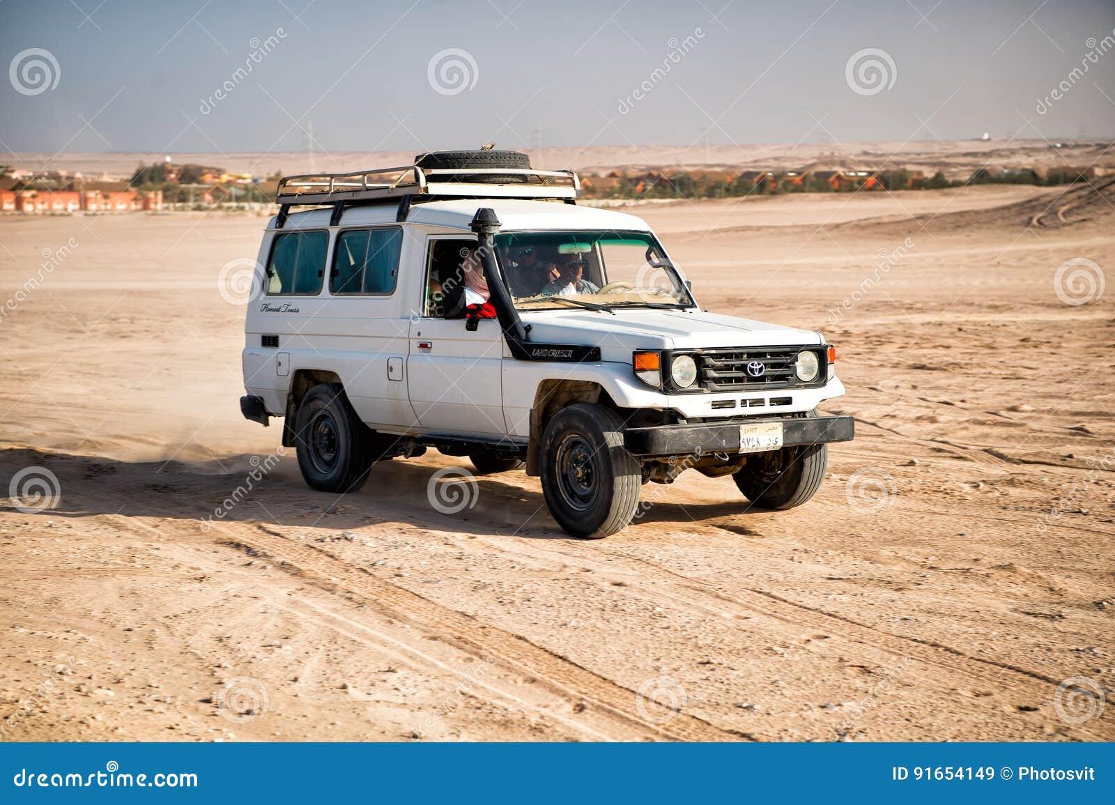 Toyota Of The Desert >> White Toyota Car Driving In Desert Of Hurghada Egypt Editorial