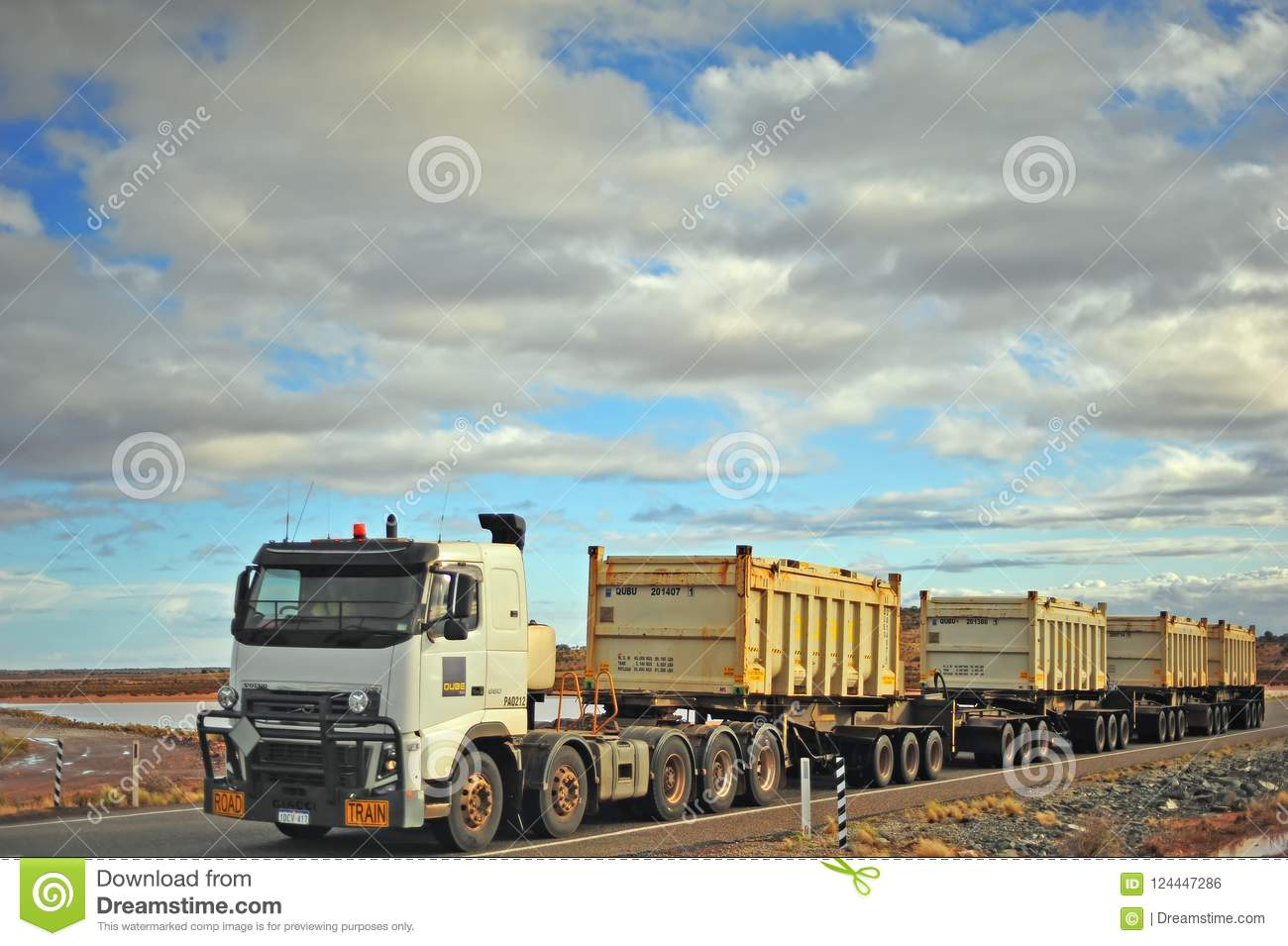 White Truck Carring Diesel In Large Tanks  Editorial Photo