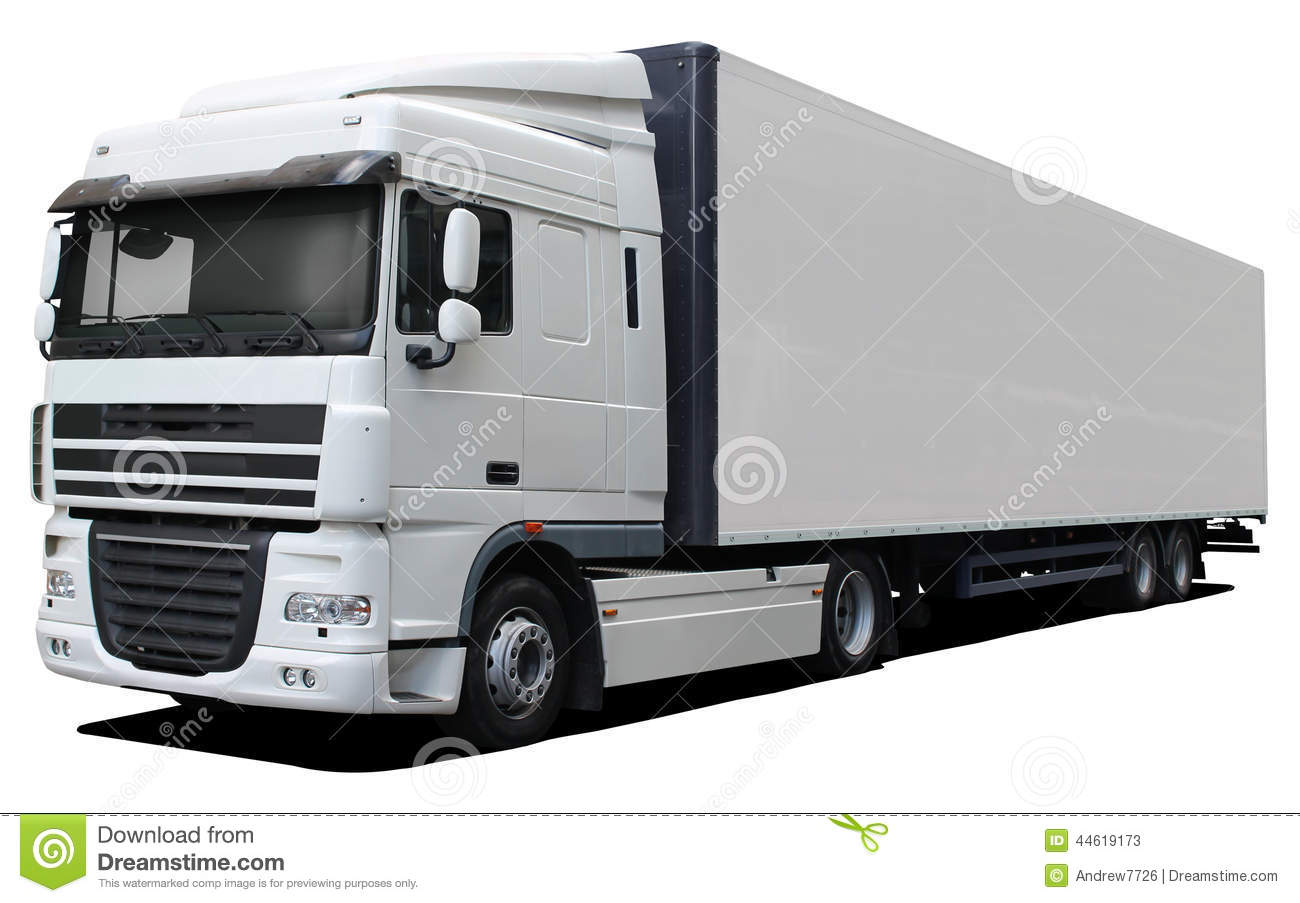 White Truck DAF XF Stock Photo - Image: 44619173