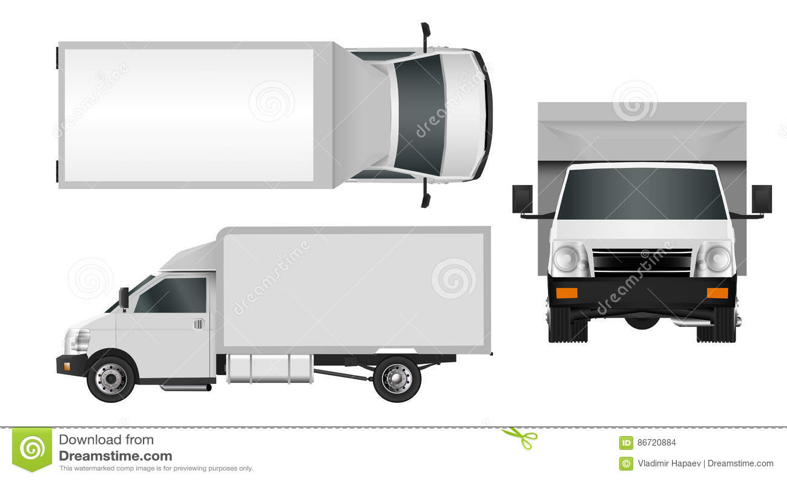 delivery van template vector cartoon vector 25390399. Black Bedroom Furniture Sets. Home Design Ideas