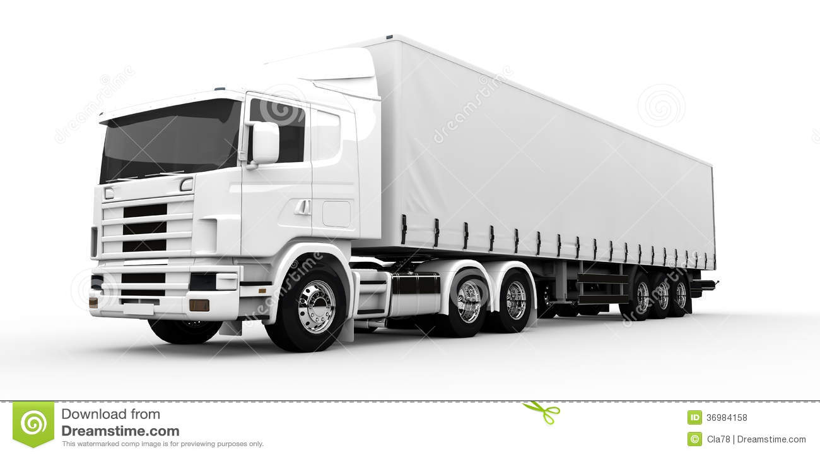 White truck stock illustration. Illustration of delivery ...