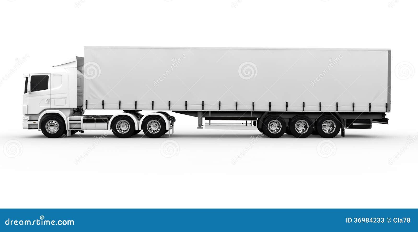 white truck stock photos image 36984233 Front View Semi Truck Clip Art Semi Truck Logos