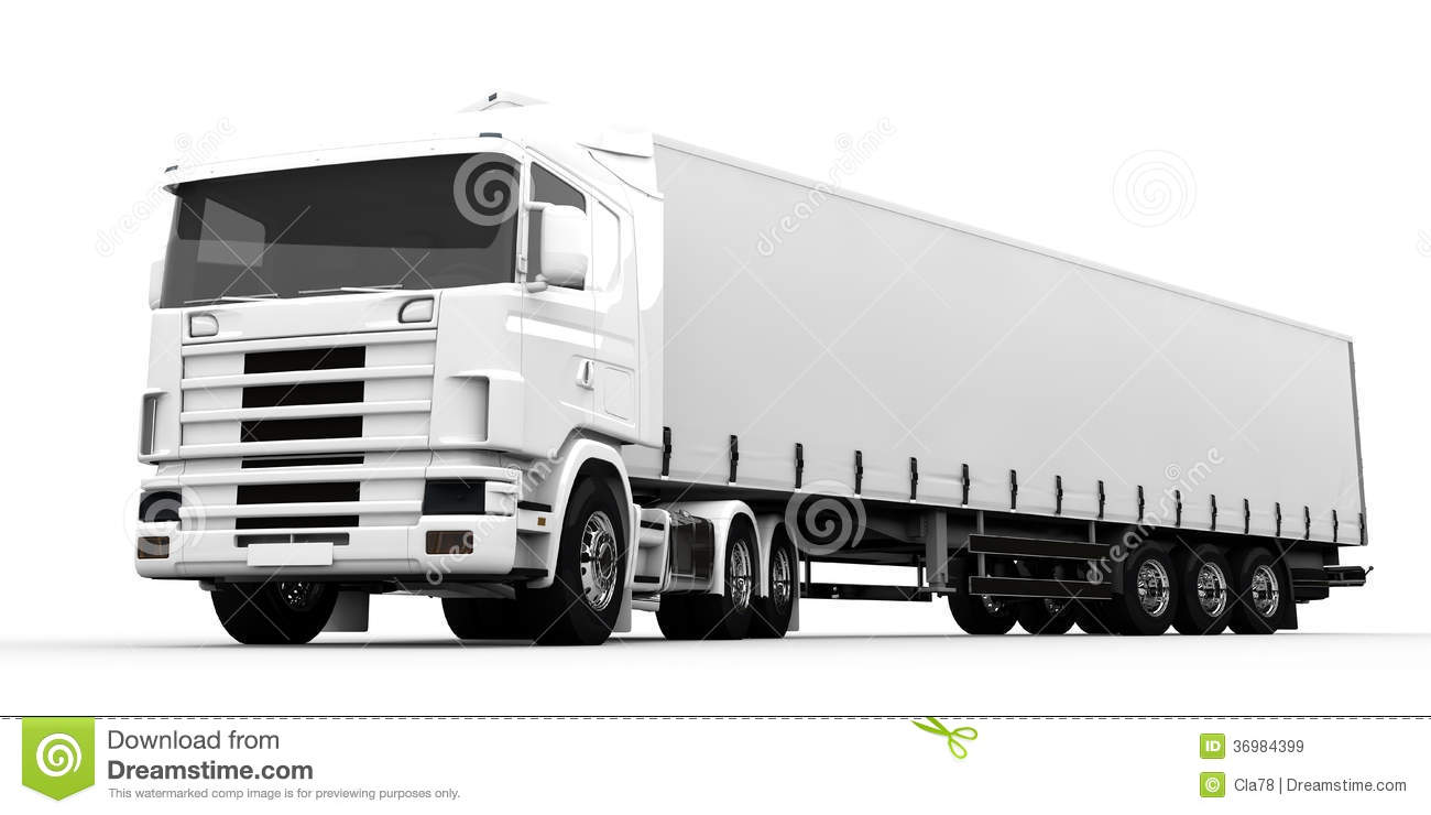 White Truck Royalty Free Stock Images - Image: 36984399