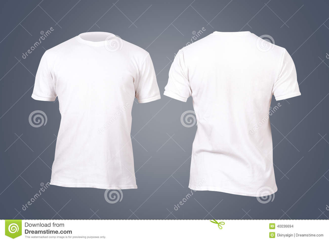 White Tshirt Template stock photo. Image of blank ...