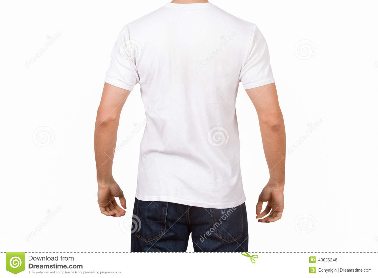 White t shirt for design - White Tshirt On Young Man Stock Photo