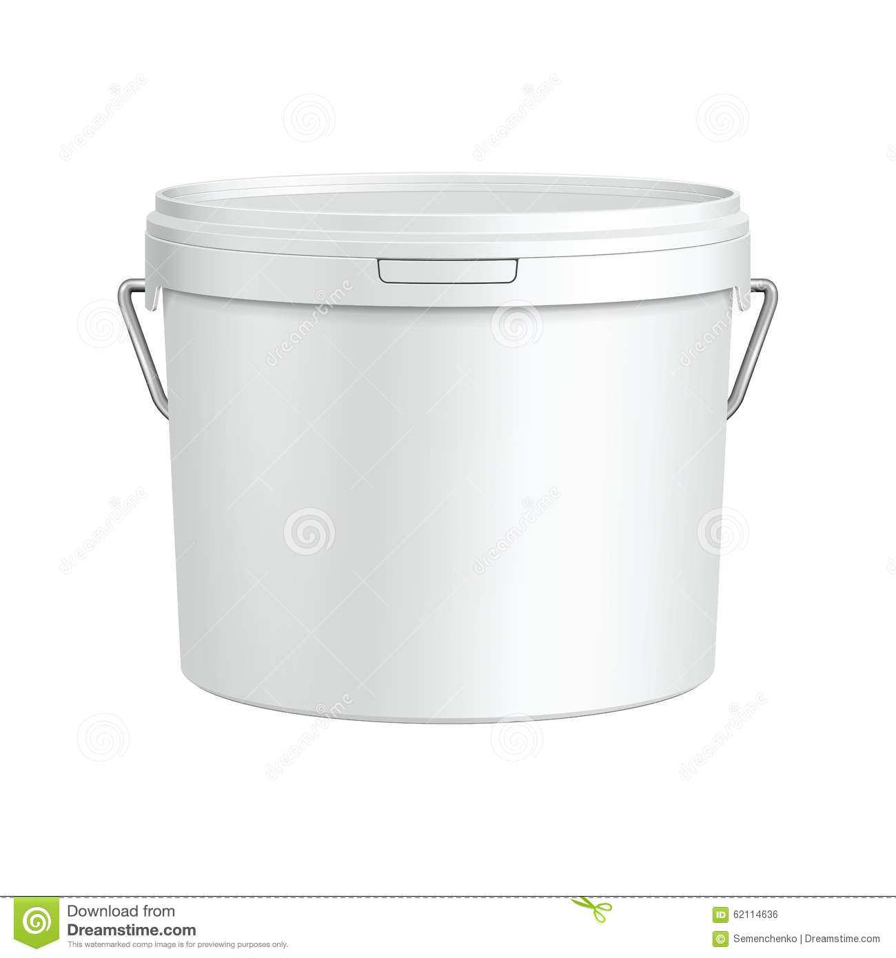 White tub paint plastic bucket container with metal handle for 5 gallon bucket of paint price