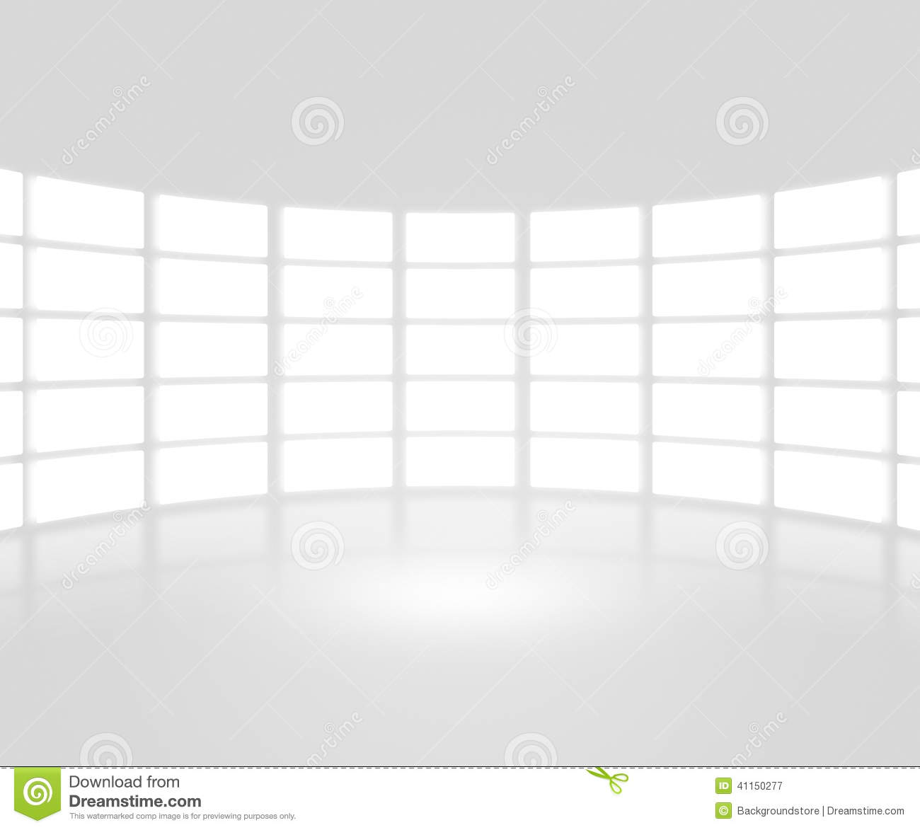 White TV Show Stage Backdrop Stock Photo
