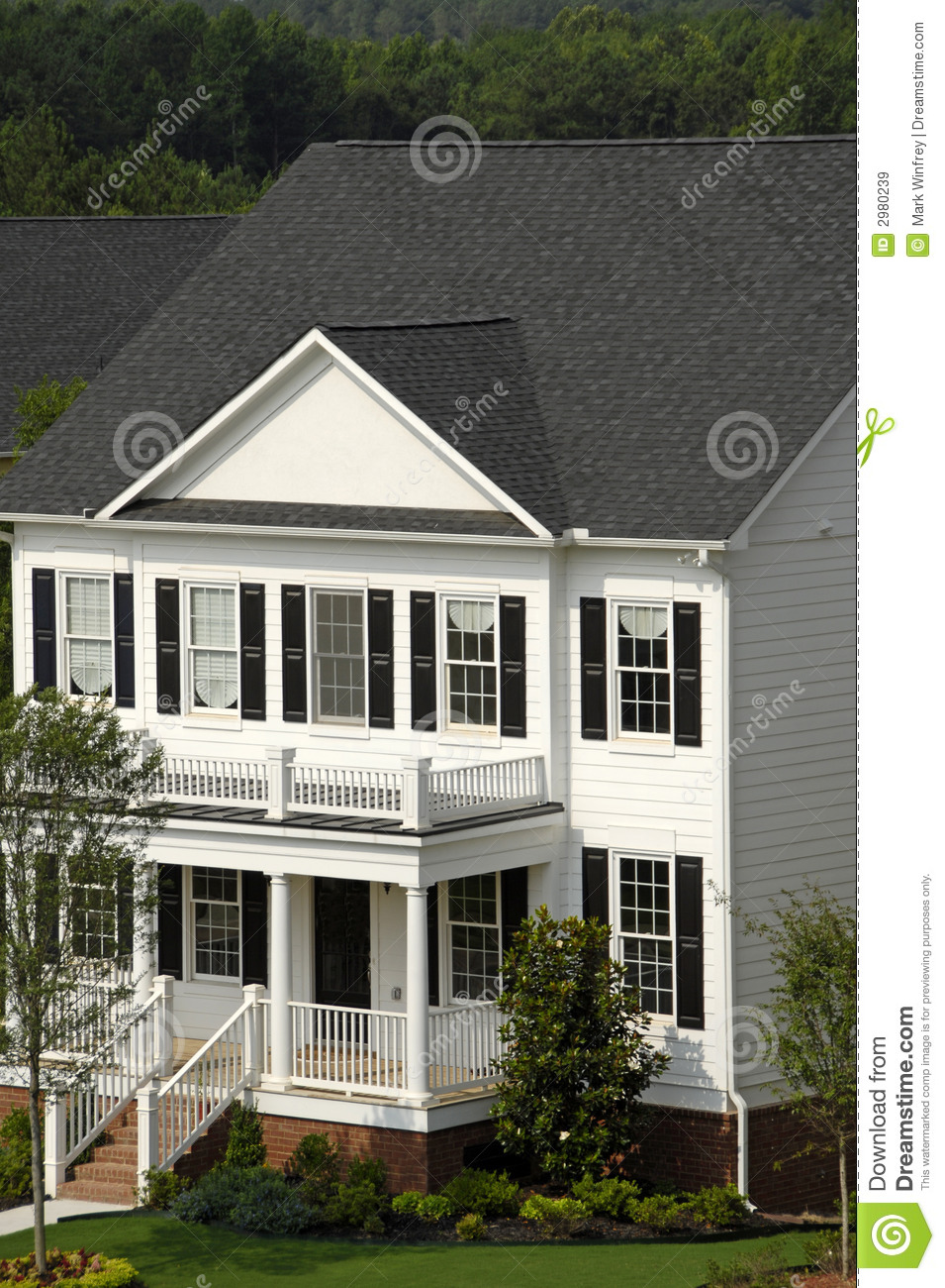 White two story house stock image image of real sell for 2 story homes