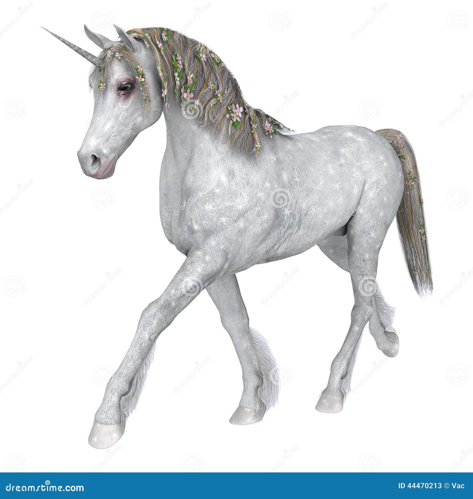 White Unicorn Stock Illustration Illustration Of Horned