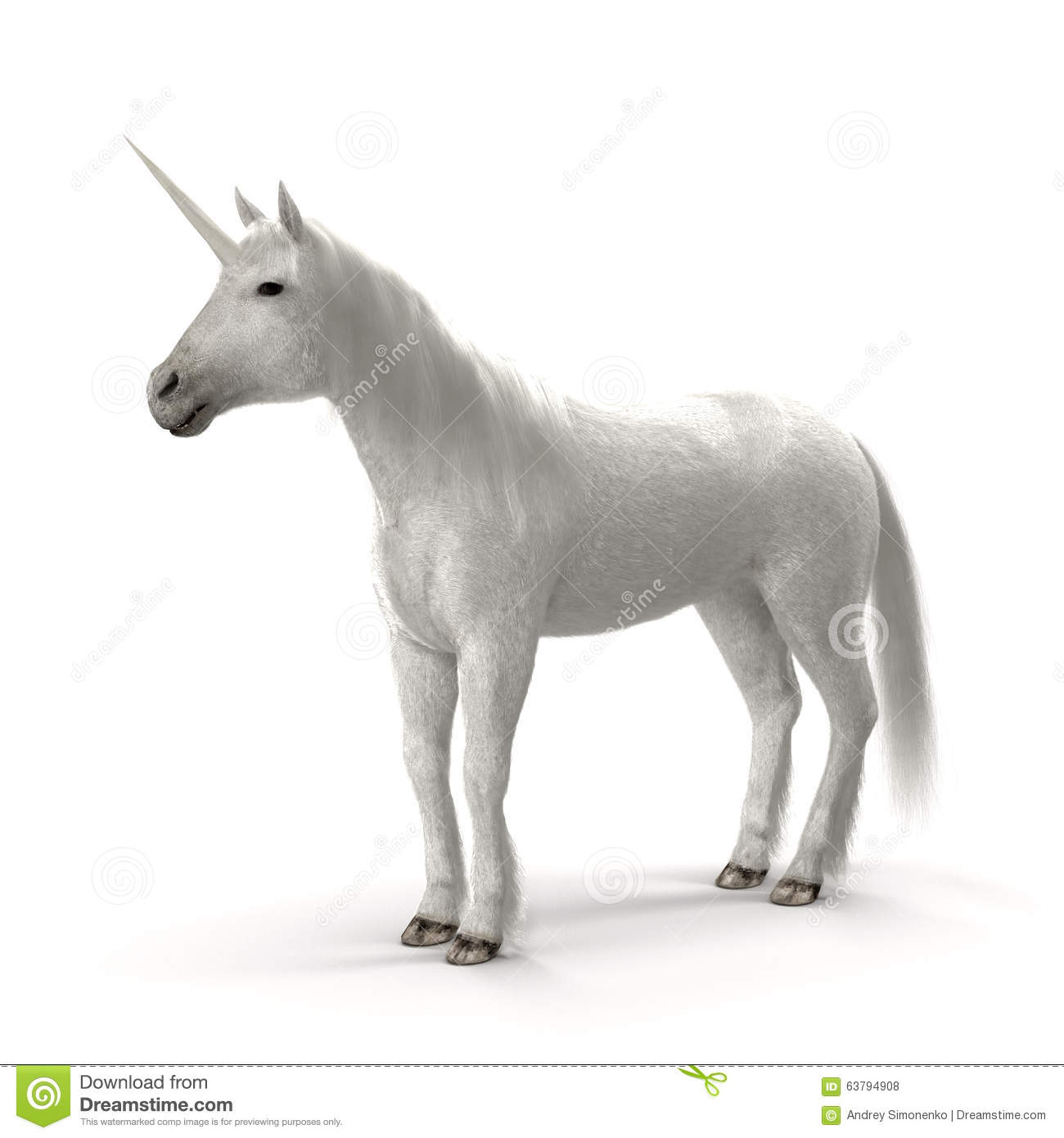 White Unicorn Stock Illustration - Image: 63794908