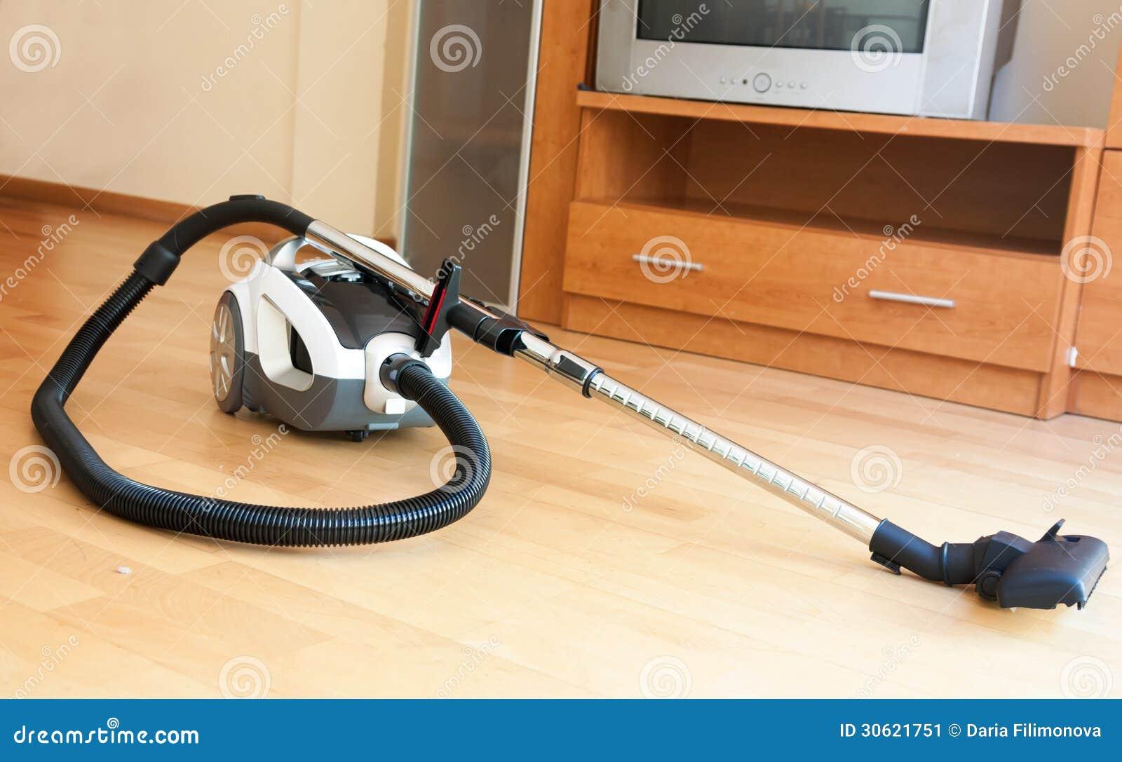 white vacuum cleaner on parquet stock image image 30621751