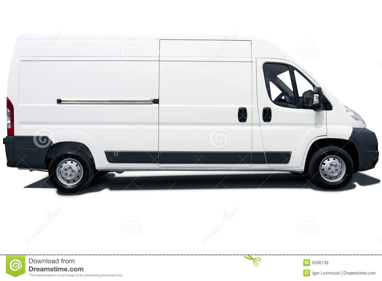 White Van Royalty Free Stock Images Image 5036739