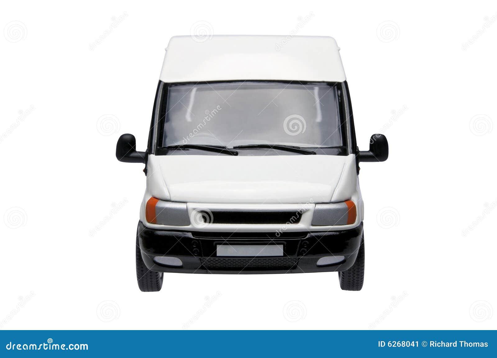 White Van Front Stock Image - Image: 6268041