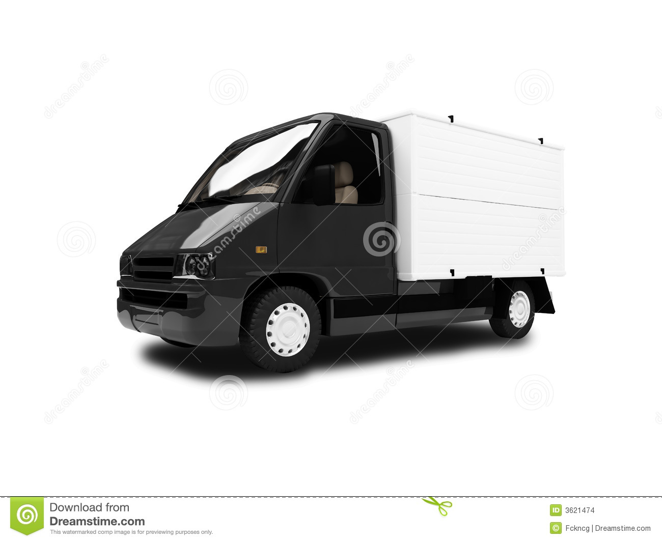 White Van Isolated Front View Stock Images - Image: 3621474