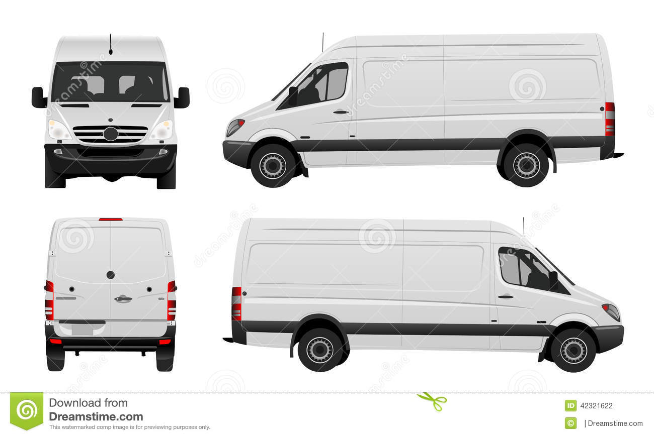 White Van Vector Stock Vector Image 42321622