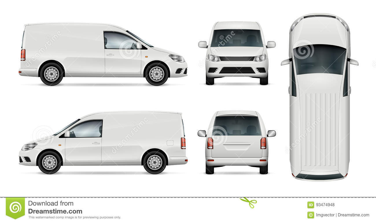 White van vector template stock vector image of commercial 93474948 for Free vehicle templates vector