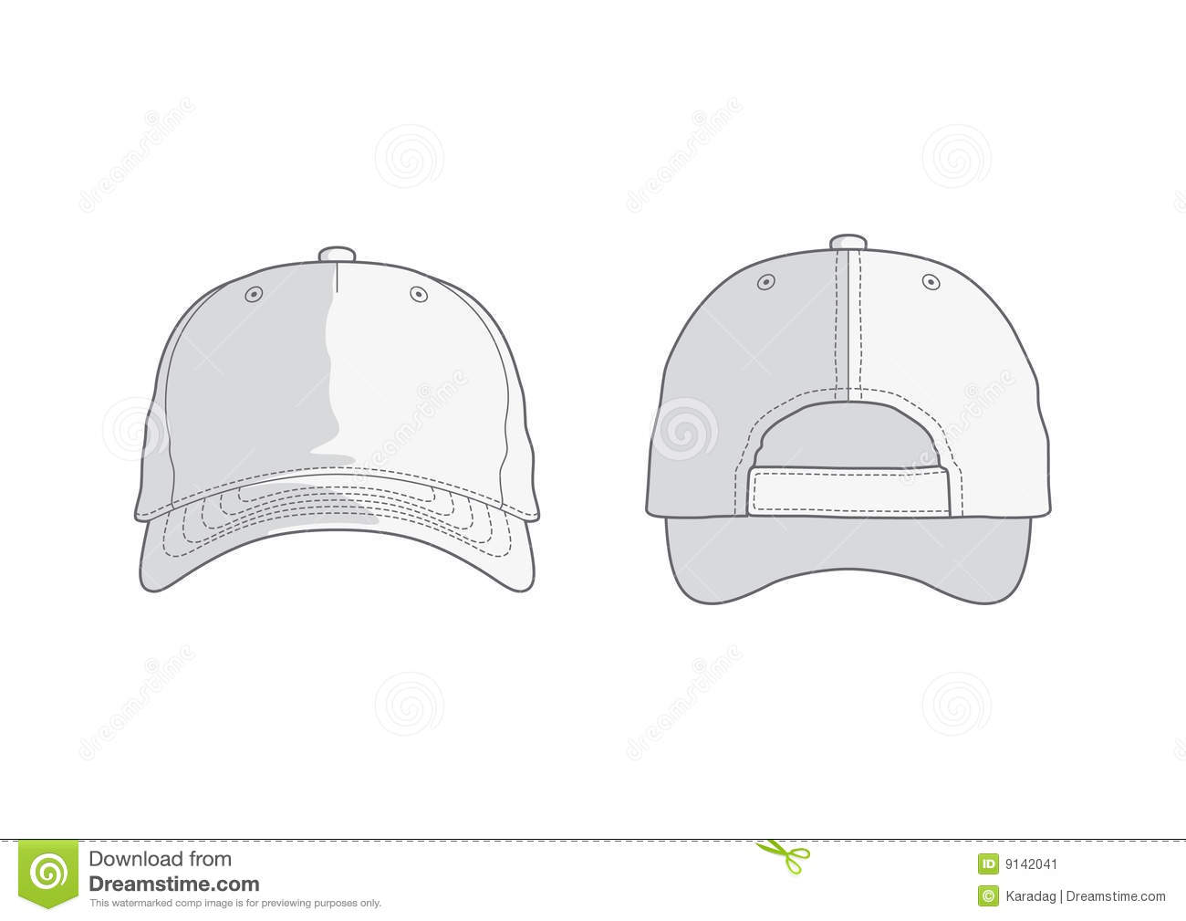 baseball hat or cap vector template royalty free stock photography