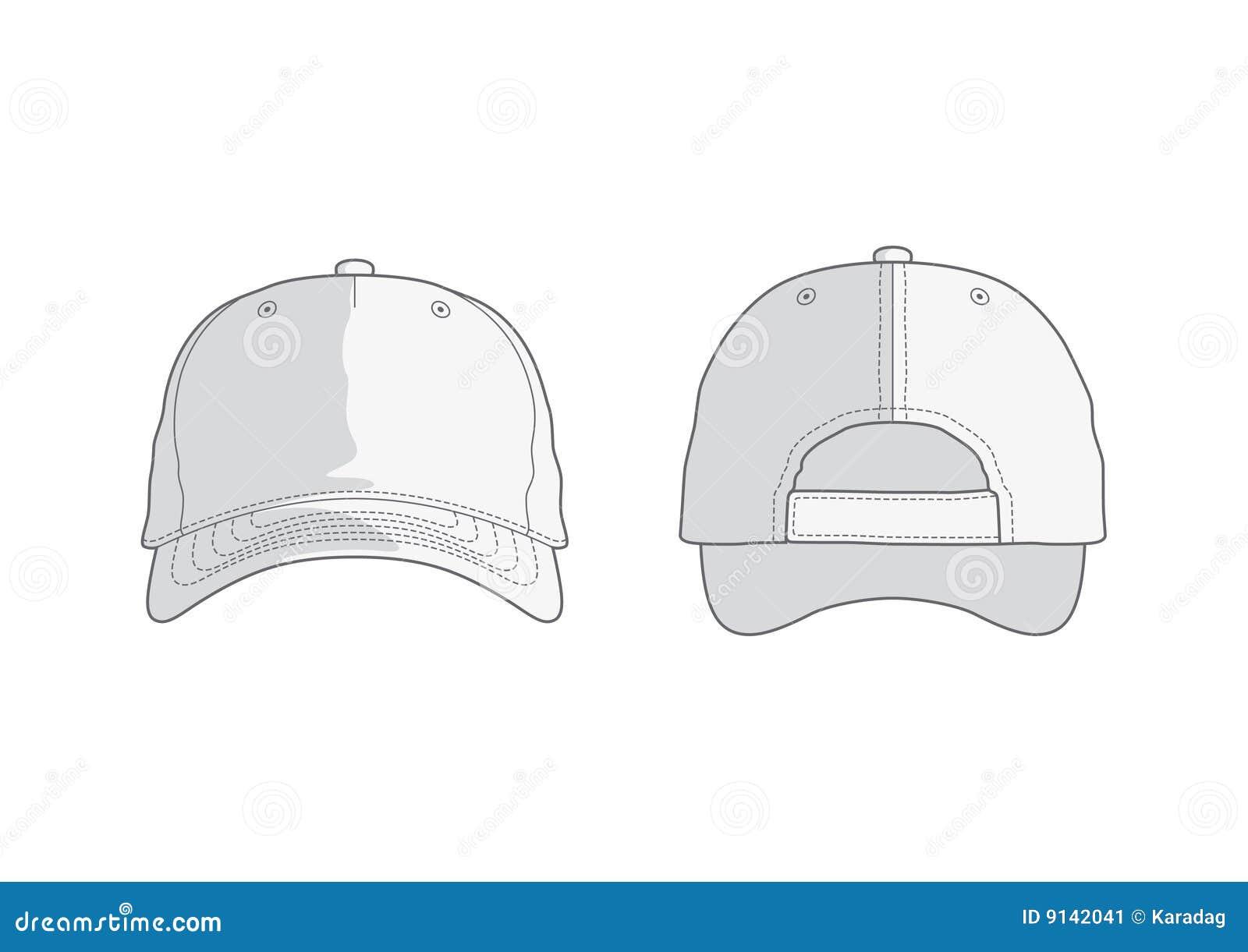 white vector baseball cap stock image image 9142041 polo shirt vector template in word Polo Shirt Vector Template