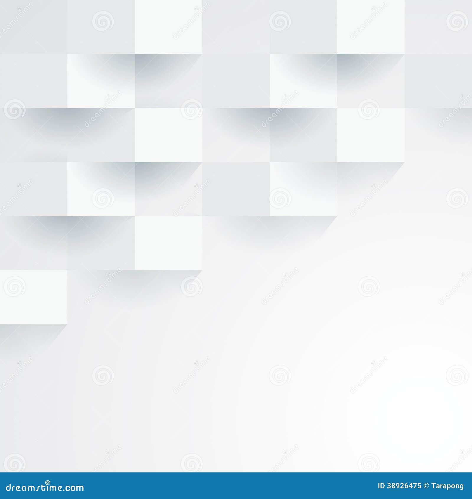 White Vector Geometric Background Stock Vector