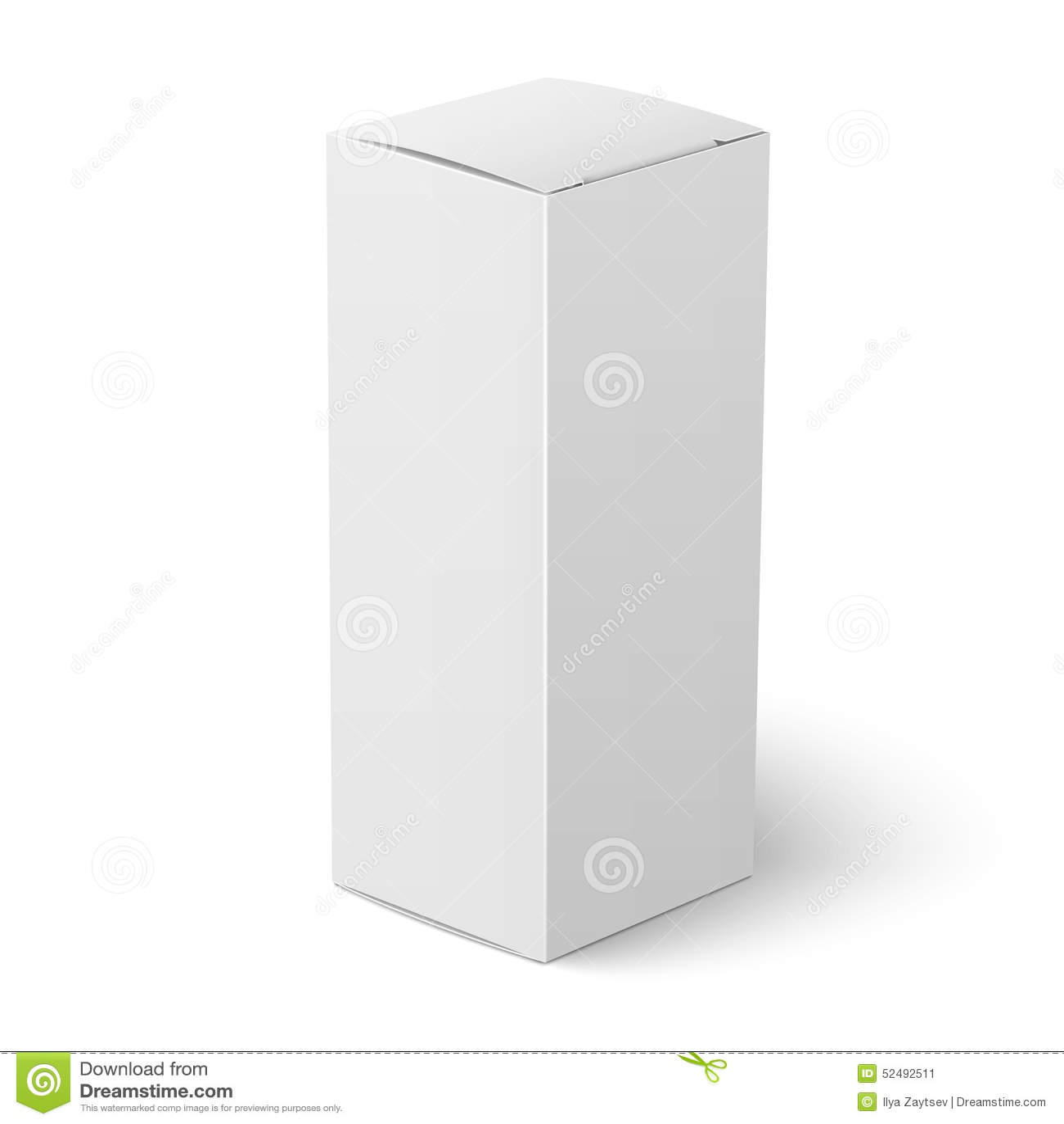 White vertical paper box template stock vector illustration of white vertical paper box template maxwellsz