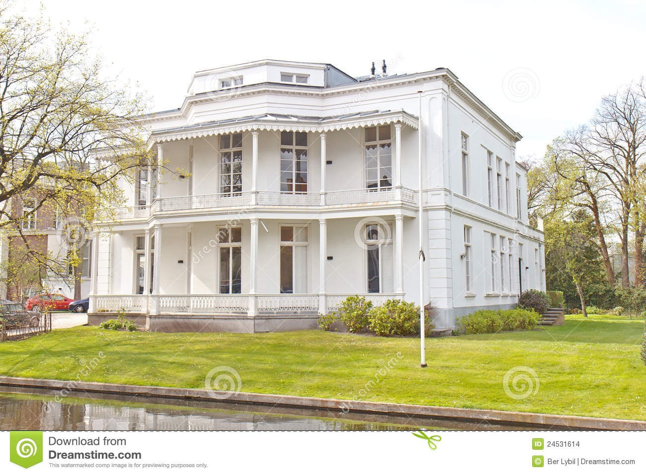 White Victorian House Stock Images Image 24531614