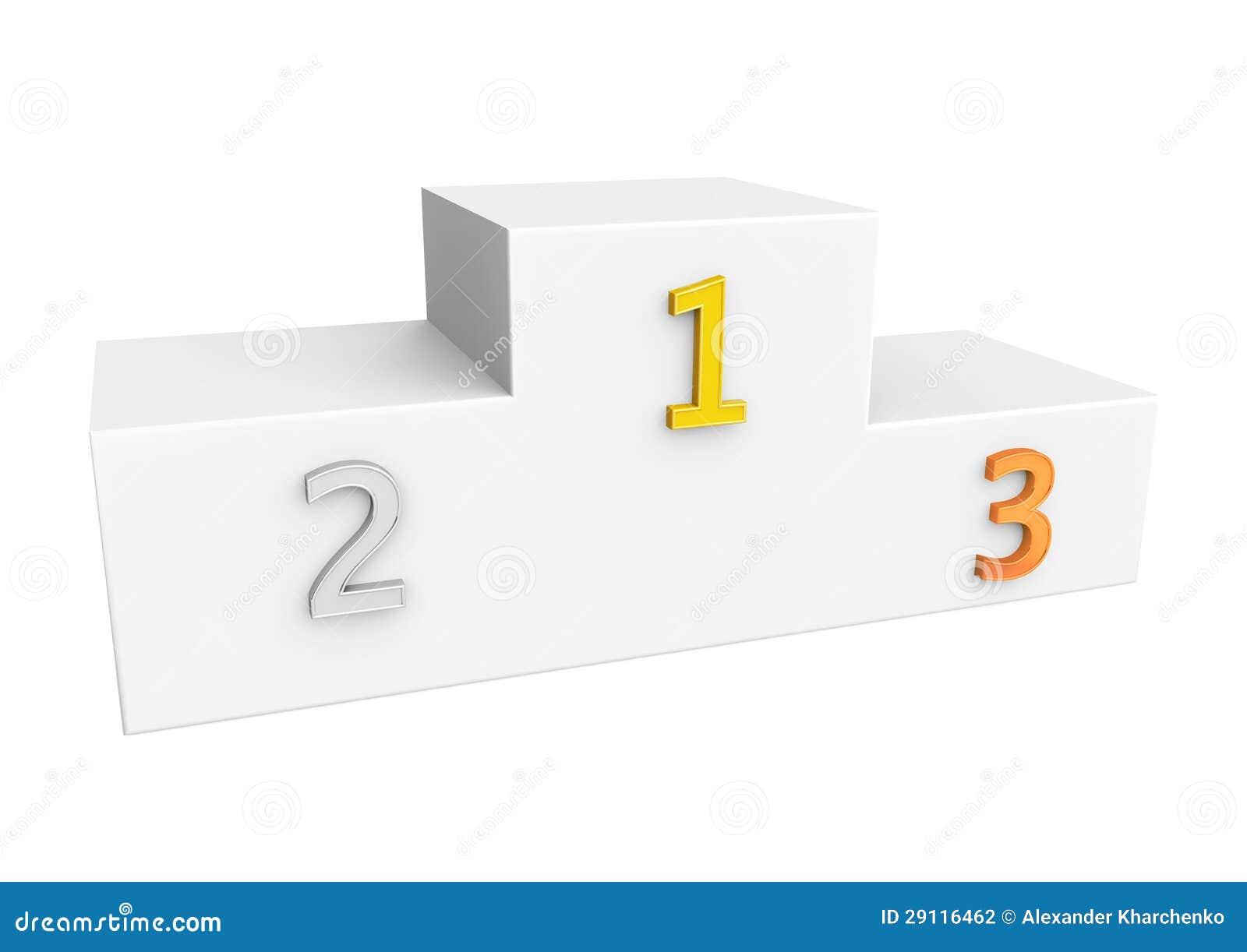 how to make victory podium