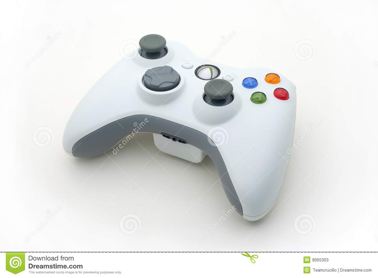 White Video Game Controller on White