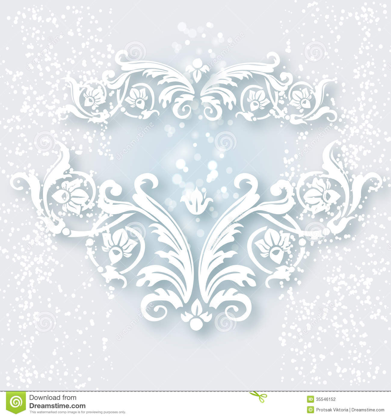 White Vintage Baroque Border Stock Vector Image 35546152