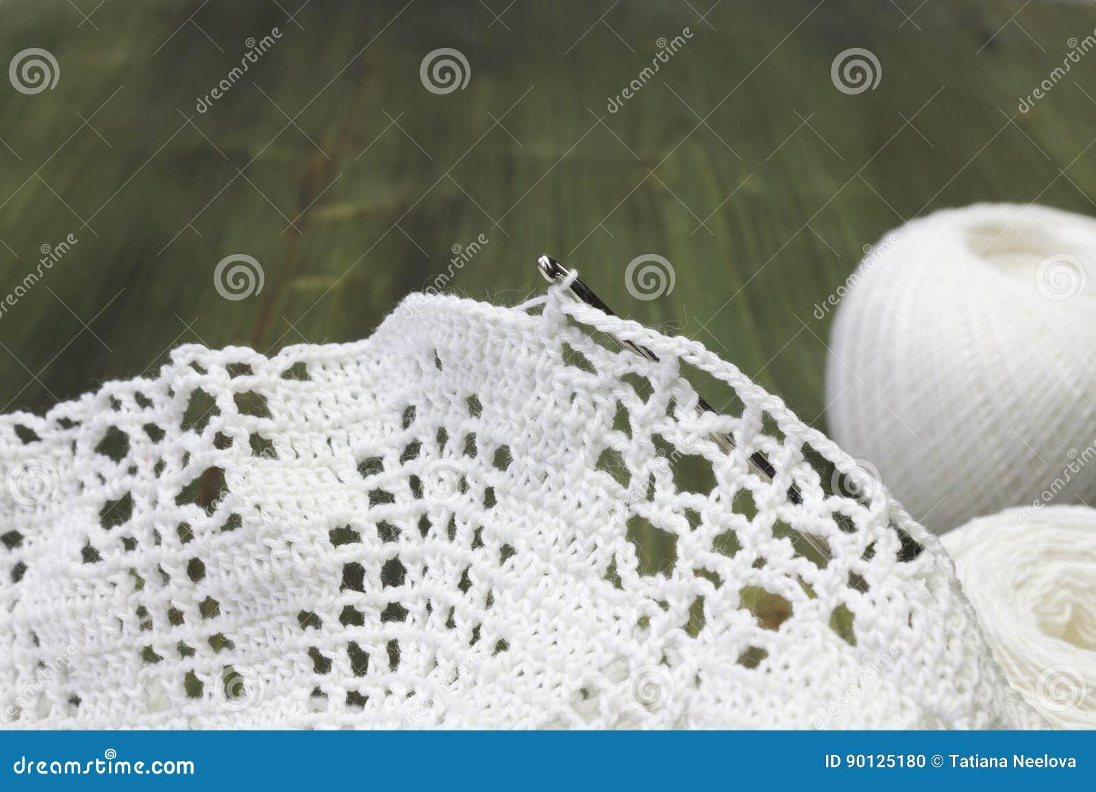 White Vintage Elements Of Irish Crochet. Cotton Yarn For Knitting ...