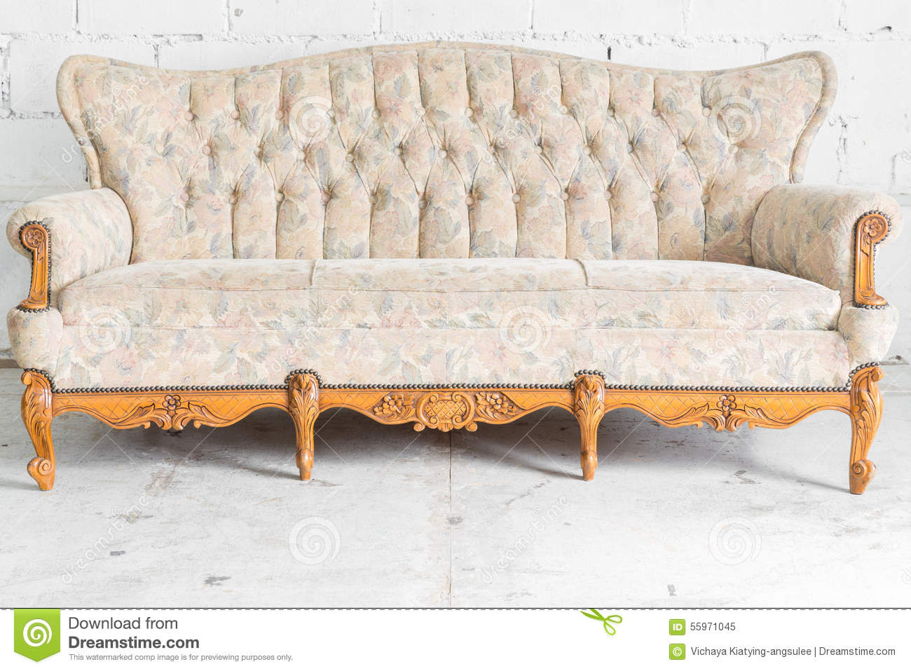 white vintage sofa bed stock photo image 55971045. Black Bedroom Furniture Sets. Home Design Ideas