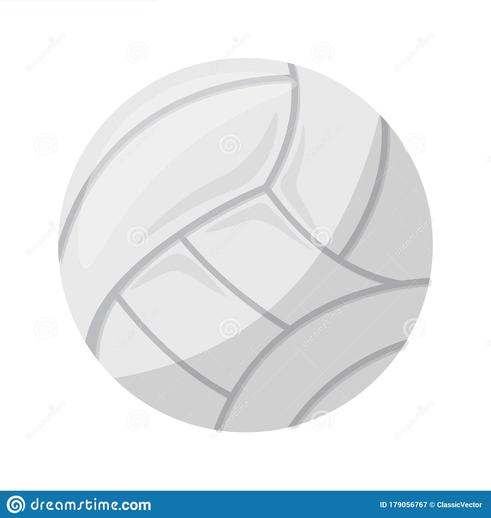 White Volleyball Ball On Transparent Background Stock Vector Illustration Of Professional Object 179056767
