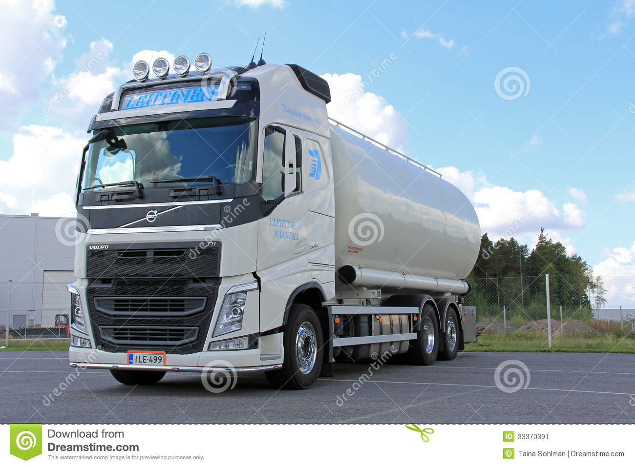 White Volvo Tank Truck For Food Transport Editorial Photo - Image: 33370391