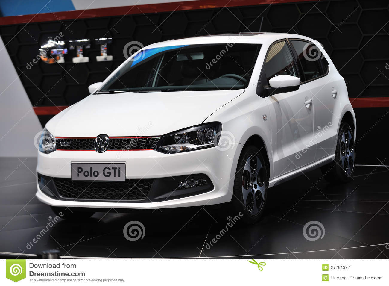 white vw polo gti editorial photography image  autocar