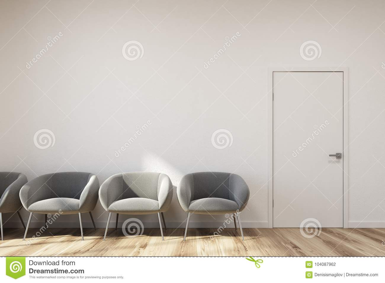 Pleasant White Waiting Room Gray Chairs Stock Illustration Bralicious Painted Fabric Chair Ideas Braliciousco
