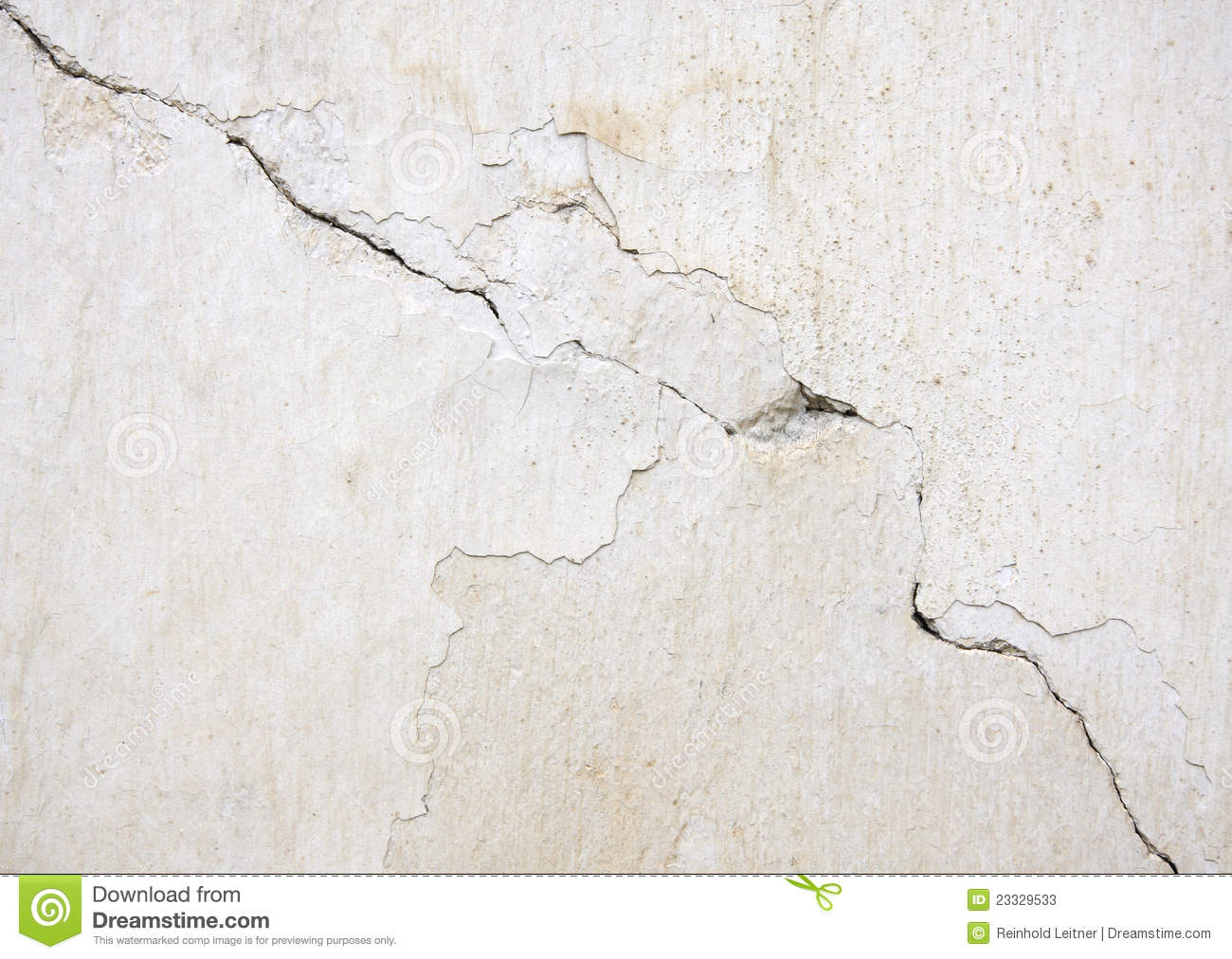 White Wall With Cracks Stock Photos - Image: 23329533