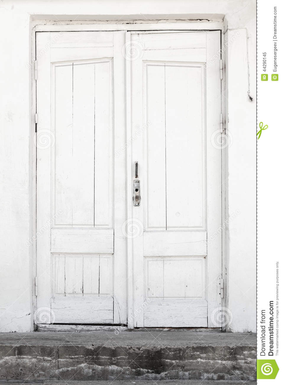 White Wall And Door, Background Texture Stock Image ...